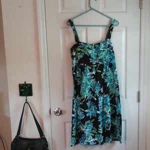 Madison Leigh Blue Floral Sun Dress